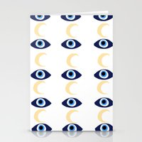 evil eye Stationery Cards featuring evil eye by sabrina