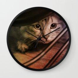 Crouching Kitty  Wall Clock