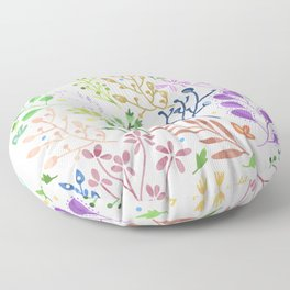 Abstract Spring Florals Floor Pillow