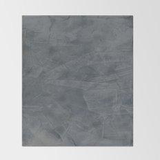 Slate Gray Stucco Throw Blanket