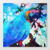 parrot Canvas Prints featuring Parrot by haroulita