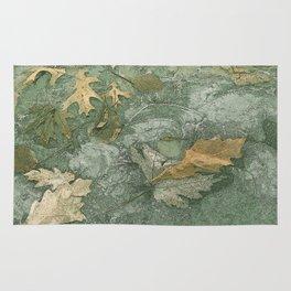 Leaves in Ice Rug
