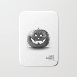 Halloween graffiti Bath Mat