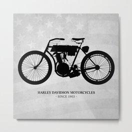 Harley Motorcycle Metal Print