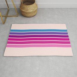 Disco - Classic 70s Style Pink Retro Stripes Rug