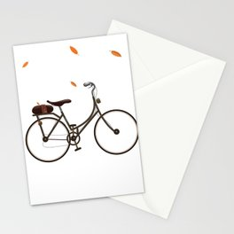 Cycling cartoon poster Stationery Cards