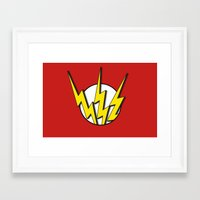 the flash Framed Art Prints featuring Flash by Msimioni