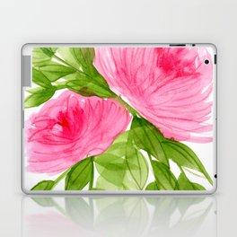 Pink Peonies in Watercolor Laptop & iPad Skin