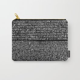 The Rosetta Stone // Black Carry-All Pouch