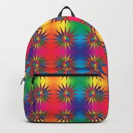 Star Rainbow Triangle Mandala  Backpack