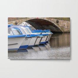 Boating on the Norfolk Broads Metal Print