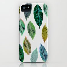 Green Leaves 2 Slim Case iPhone (5, 5s)
