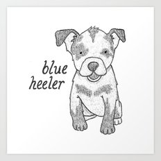 Dog Breeds: Blue Heeler/Australian Cattle Dog Art Print