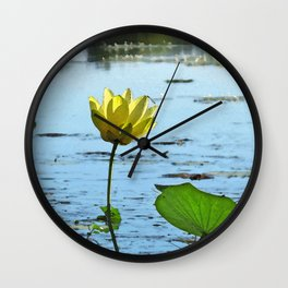Morning Lotus Wall Clock