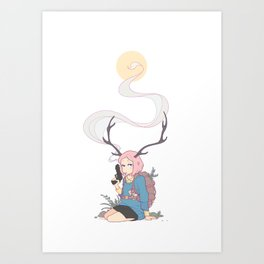 The Backpacker Art Print