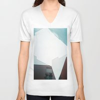 buildings V-neck T-shirts featuring buildings by mala.lalala