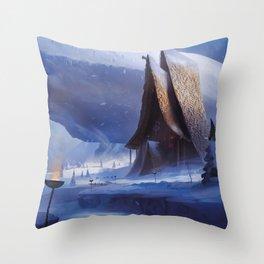 Viking House Throw Pillow