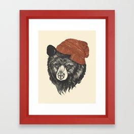 zissou the bear Framed Art Print