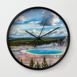 Yellowstone Blue Lagoon Wall Clock