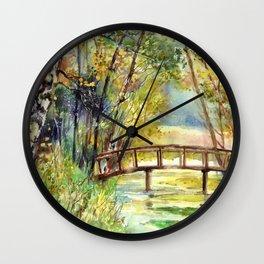 Forgotten Bridge Wall Clock