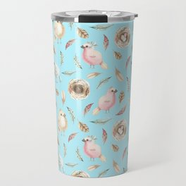Birds and Feathers in Spring Travel Mug