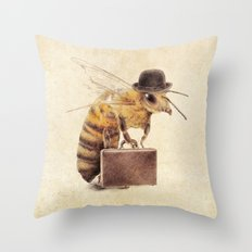 Worker Bee Throw Pillow