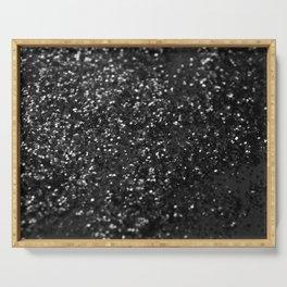Black & Silver Glitter #1 #decor #art #society6 Serving Tray