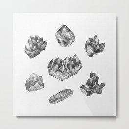 Gemstones drawing Metal Print
