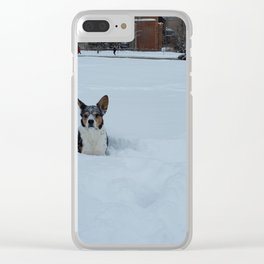 Wallace Snow Face Clear iPhone Case