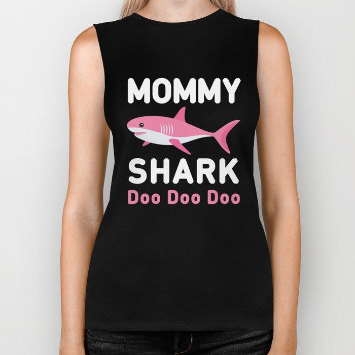 Mommy Shark Biker Tank