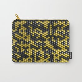 Pattern of black and yellow spheres Carry-All Pouch
