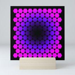 Hexagon & Pattern Mini Art Print