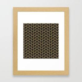 Tan Triangles on Black Framed Art Print