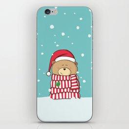 Christmas Teddy bear iPhone Skin