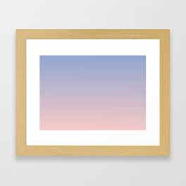 Ombre | Serenity and Rose Quartz | Pantone Colors of the Year 2016 Framed Art Print