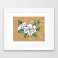 magnolia Framed Art Prints featuring Magnolia by Judy Skowron
