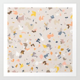 Lively Colorful Terrazzo Pattern Art Print