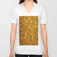 gold glitter V-neck T-shirts featuring Gold Glitter 1324 by Cecilie Karoline