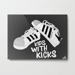Kicks Metal Print