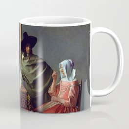 "Johannes Vermeer ""A Lady Drinking and a Gentleman"" Coffee Mug"