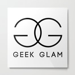 Geek Glam Metal Print