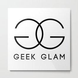 Geek Glam Metal Print