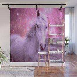 Pink Horse Celestial Dreams Wall Mural