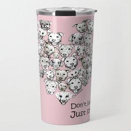 Just Love. (black text) Travel Mug