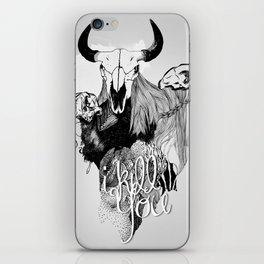 I Kill You iPhone Skin