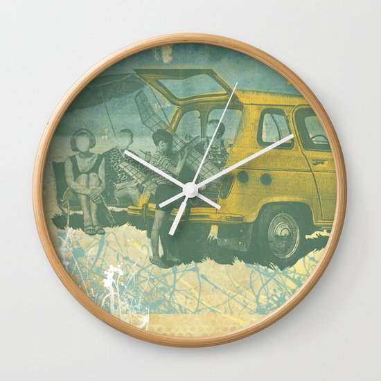 when i was young _ model planes and station wagons Wall Clock