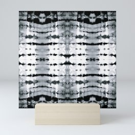 BW Satin Shibori Mini Art Print