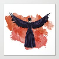 mockingjay Canvas Prints featuring Mockingjay by Cyrilliart