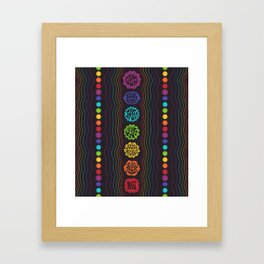 Rainbow Chakras Framed Art Print