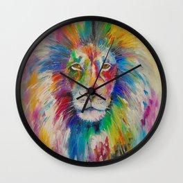Rainbow lion  Wall Clock